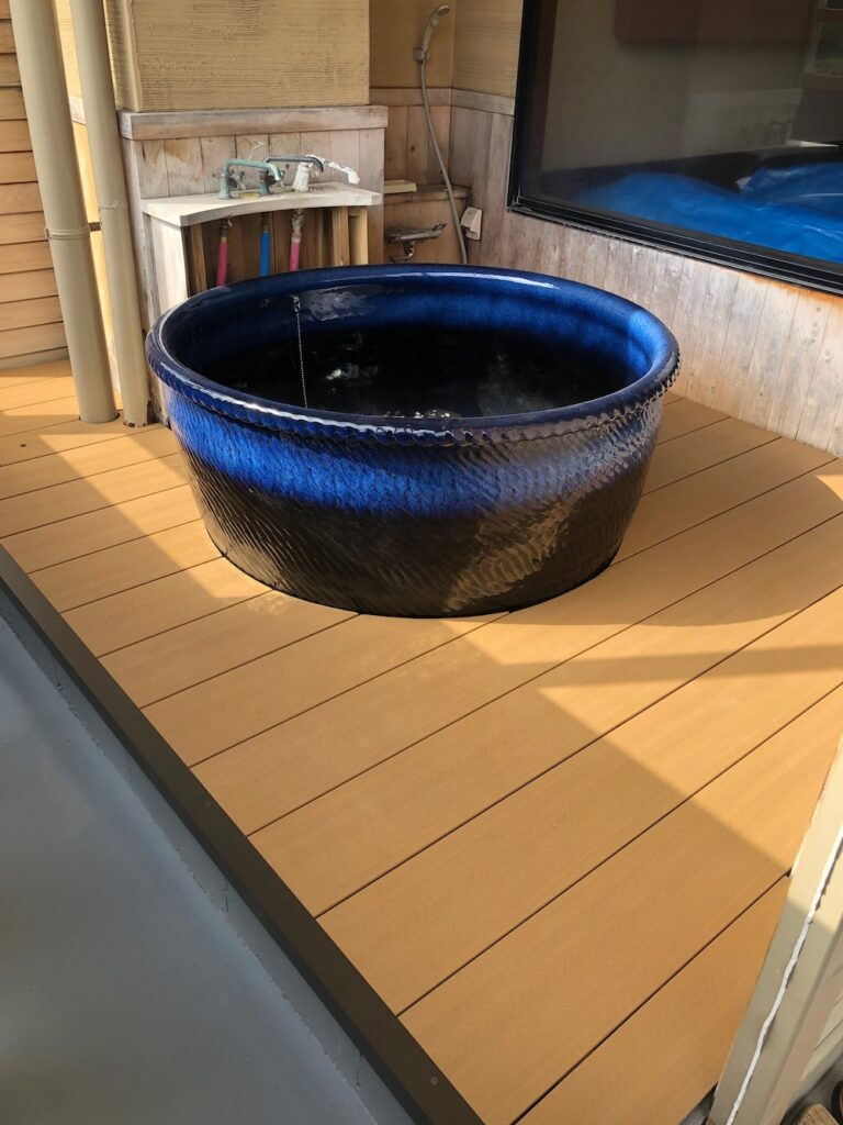 客室付き露天風呂のリフォーム後
